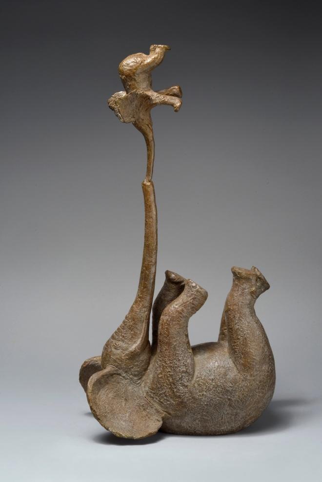 Sophie VERGER Eléphants équilibristes bronze 55x34x20 cm 2015