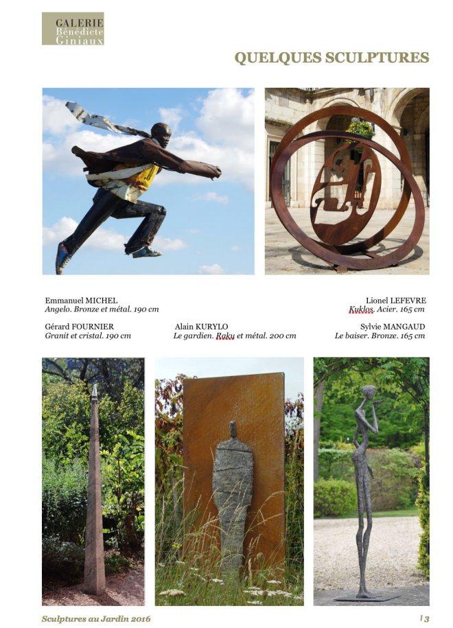 Sculptures au Jardin 2016